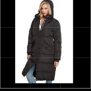 Guess Womens Dolma Long Puffer Jacket NEW!